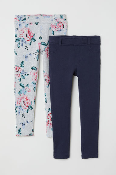 Treggings, lot de 2 - Gris clair/fleuri -  | H&M FR