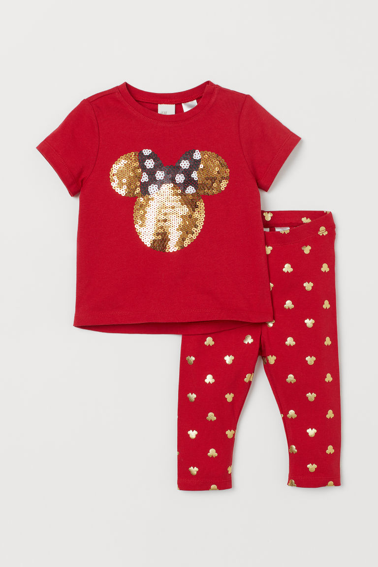 Top and leggings - Red/Minnie Mouse -  | H&M