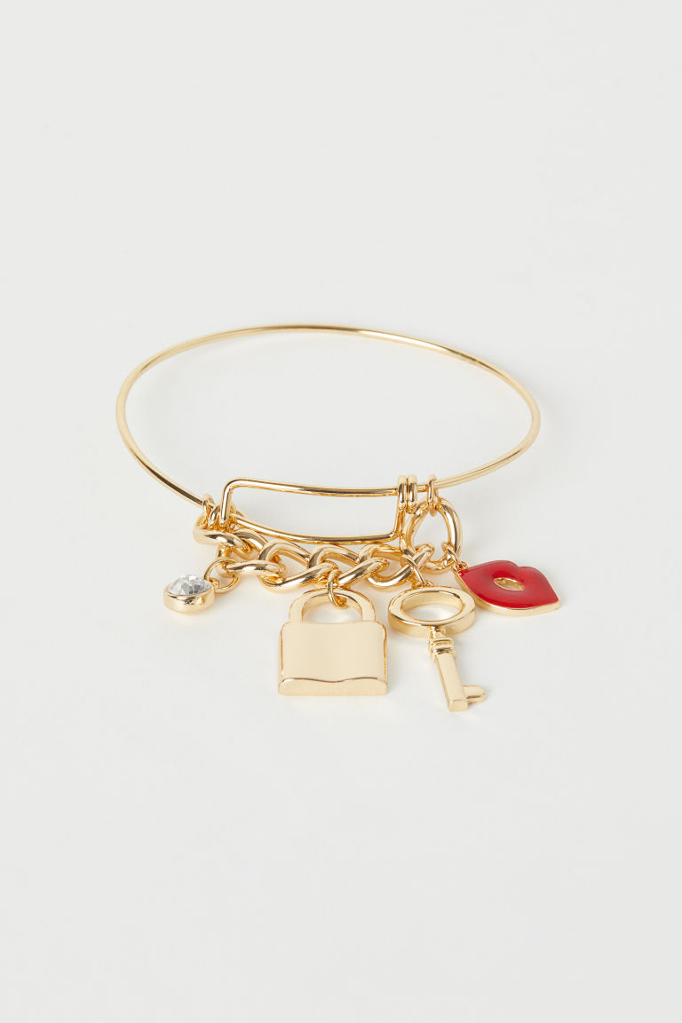 Bangle with pendants - Gold-coloured - Ladies | H&M CN