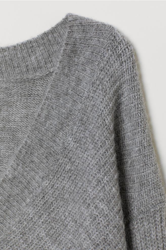 f945721d Strikket genser - Lys grå melert - DAME | H&M ...