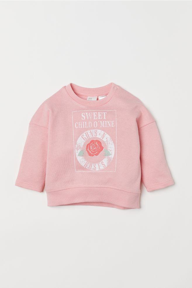 8d6ceebae774 Sweatshirt with a motif - Light pink/Guns N' Roses - Kids | H&M
