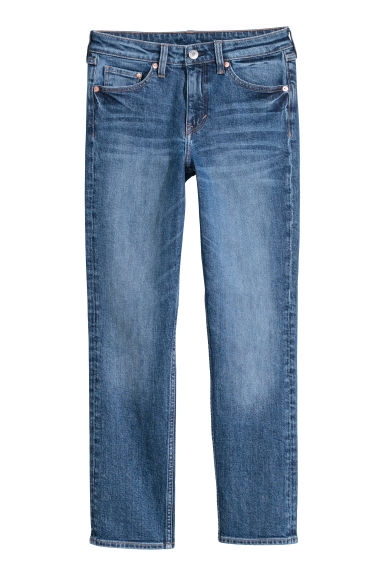 Slim Regular Ankle Jeans - Azul denim oscuro -  | H&M ES