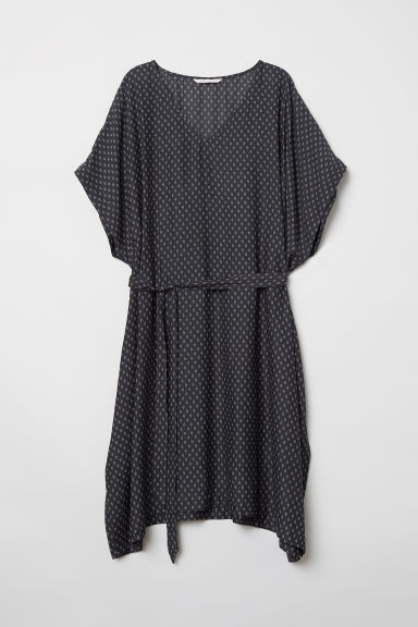 MAMA Patterned tunic - Dark grey/Patterned - Ladies | H&M