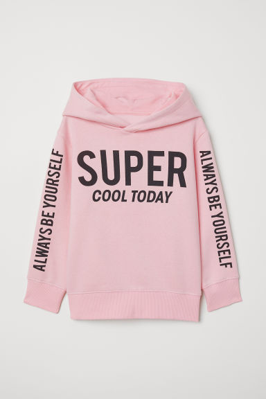 Hooded top - Light pink/Super Cool - Kids | H&M