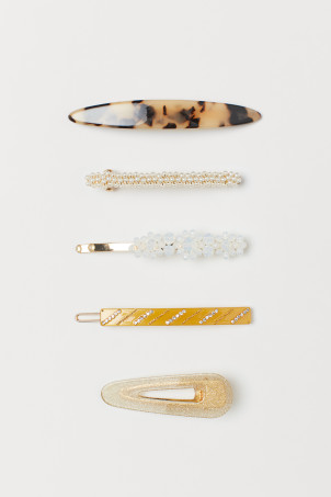 5-pack hair clips