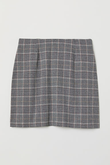 Checked skirt - Dark grey - Ladies | H&M