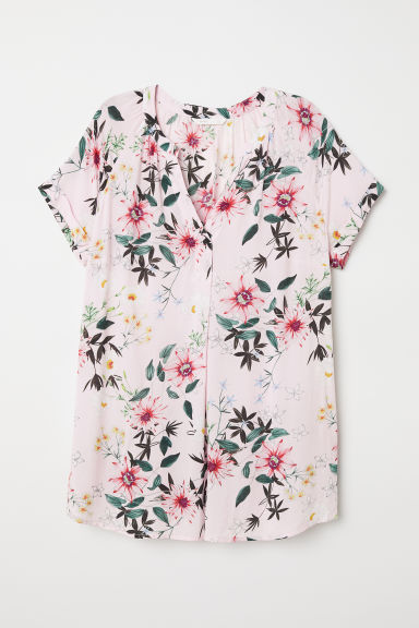 MAMA Patterned blouse - Light pink/Floral - Ladies | H&M