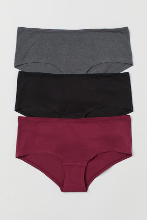 3-pack cotton hipster briefs