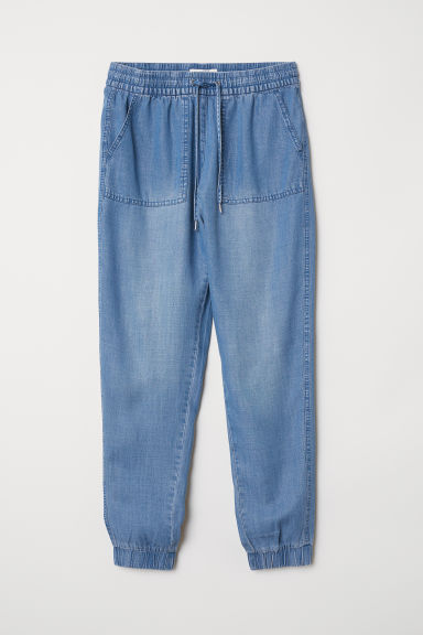Pull-on trousers - Denim blue - Ladies | H&M CN