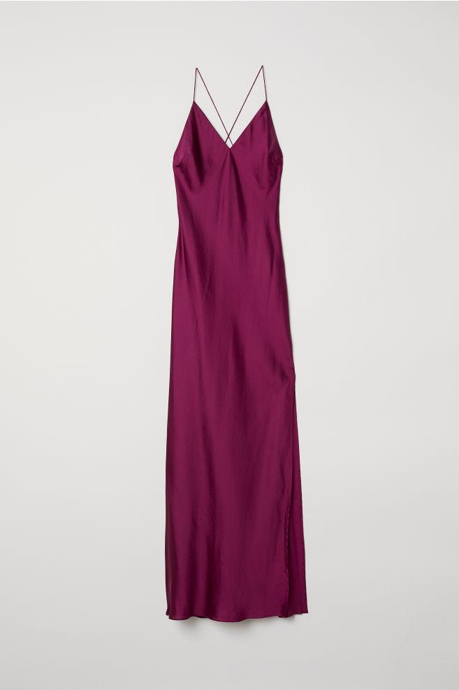 b1b62bb45e8 Long Satin Dress - Dark pink - Ladies
