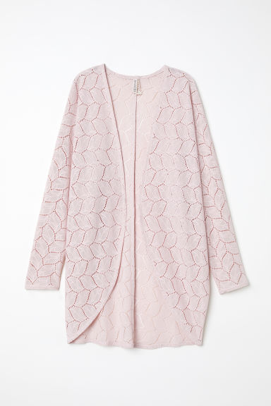 Cardigan in pizzo - Rosa cipria - DONNA | H&M IT