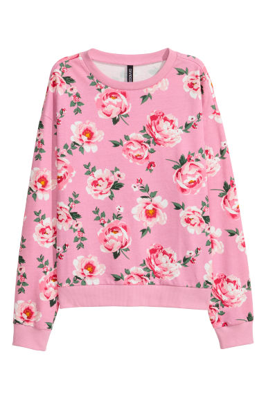 Sweater met print - Roze/rozen -  | H&M BE