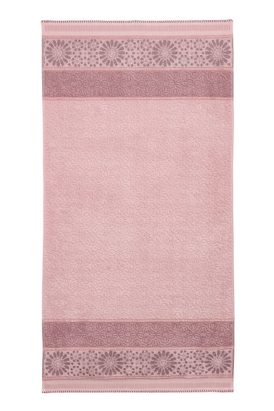 Jacquard-weave bath towel - Pink - Home All | H&M IE