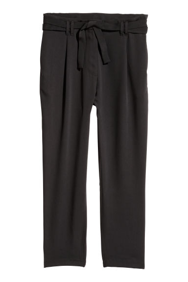 Wide trousers - Black - Ladies | H&M CN