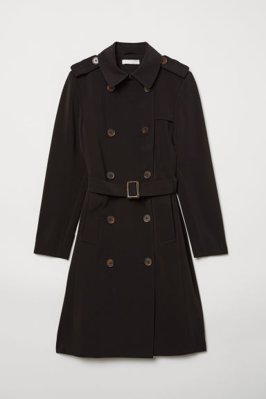 Trenchcoat - Black - Ladies | H&M CN