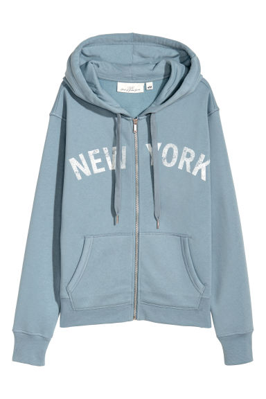Ritshoodie - Lichtblauw/New York -  | H&M BE