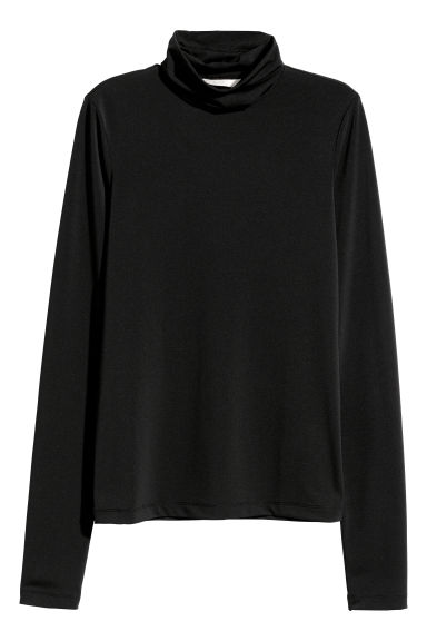 Polo-neck top - Black - Ladies | H&M CN