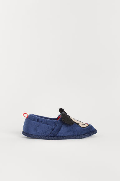 Soft slippers - Dark blue/Mickey Mouse - Kids | H&M