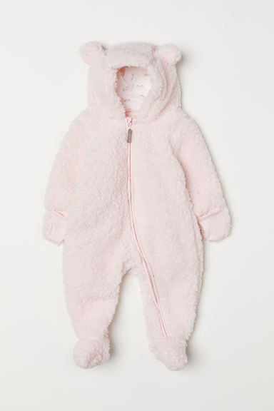 Pile all-in-one suit - Light pink -  | H&M CN