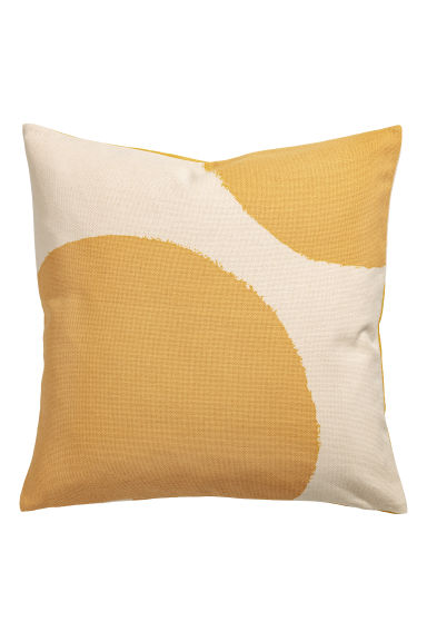 Patterned cushion cover - Natural white/Yellow - Home All | H&M CN