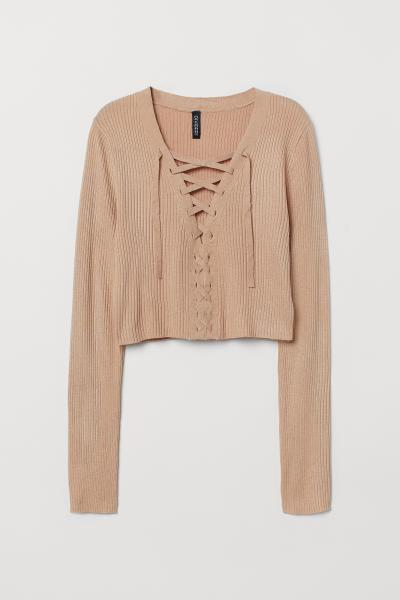 H&M - Short jumper with lacing - 5