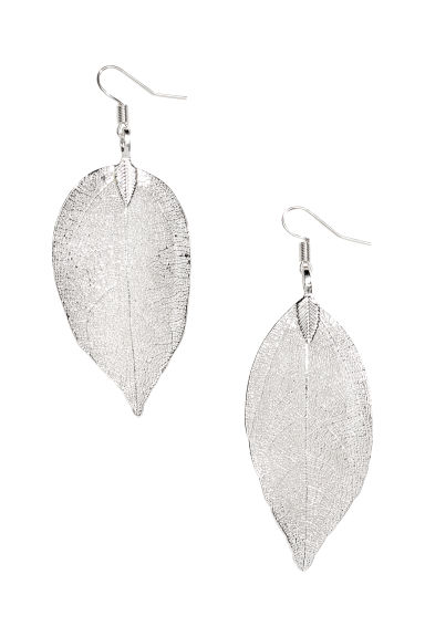 Leaf-shaped earrings - Silver-coloured - Ladies | H&M