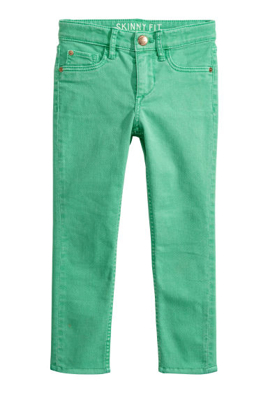 Twill trousers Skinny Fit - Bright green - Kids | H&M