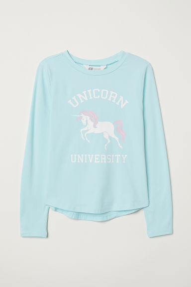 Jersey top - Turquoise/Unicorn - Kids | H&M CN