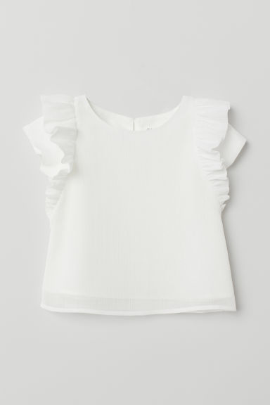 Glittery blouse - White - Kids | H&M CN