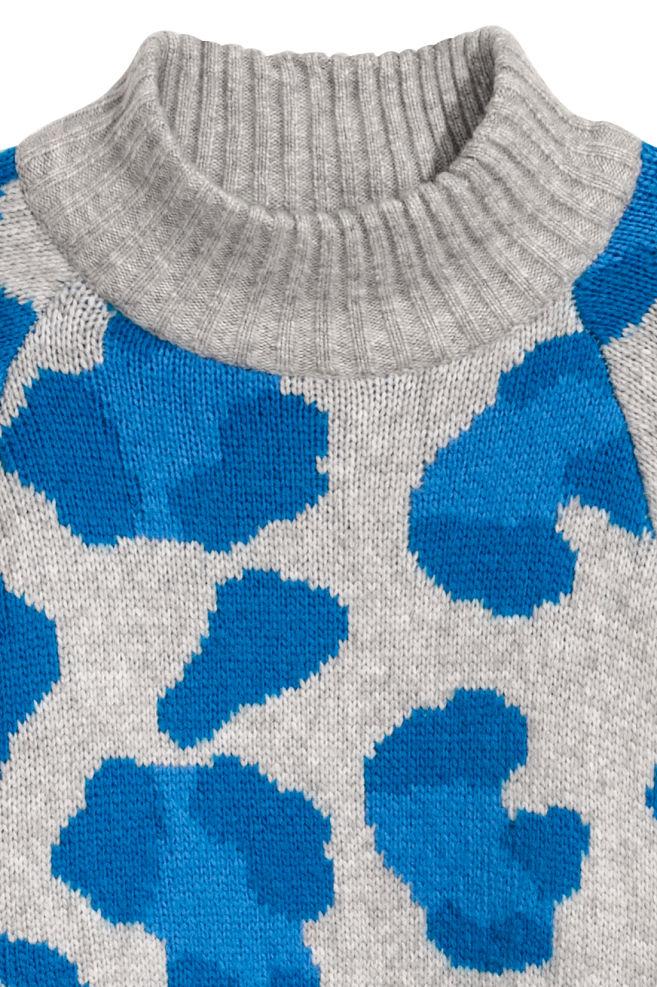 4798199b Knitted jumper - Light grey/Leopard print - Ladies | H&M ...