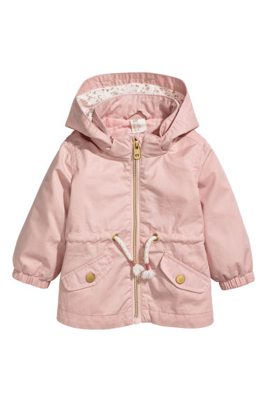 Cotton parka - Powder pink - Kids | H&M CN