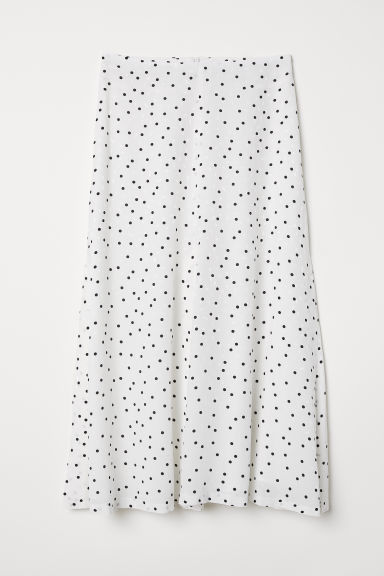 Jacquard-weave skirt - White/Spotted - Ladies | H&M