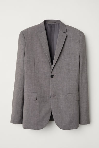 Jacket Slim fit - Grey - Men | H&M IN