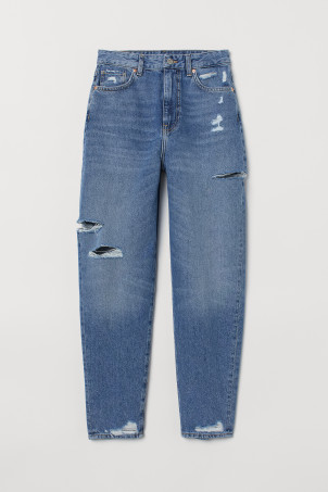 Loose Fit Ultra High Mom Jeans