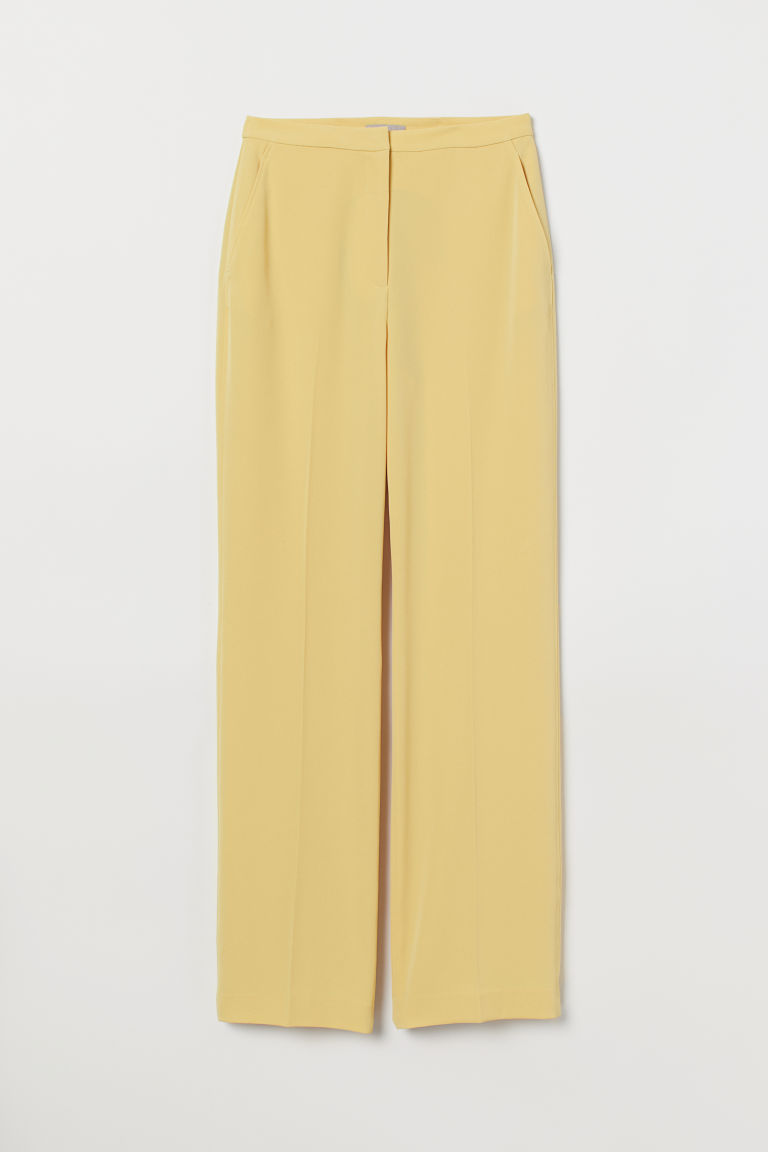 Tailored trousers - Light yellow - Ladies | H&M