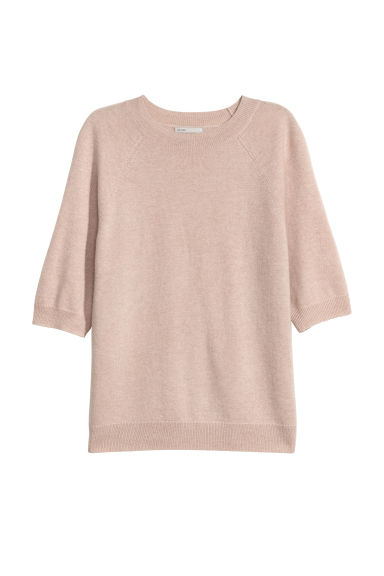 Short-sleeved Cashmere Sweater - Antique rose - Ladies | H&M US
