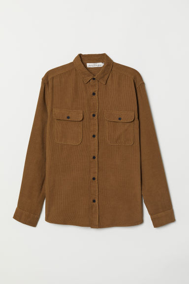 Corduroy shirt - Brown - Men | H&M CN