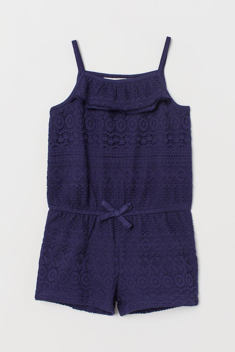 df77155c7cf Lace playsuit - Dark blue - Kids
