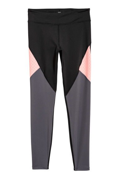 Sports tights - Dark grey/Pink - Ladies | H&M