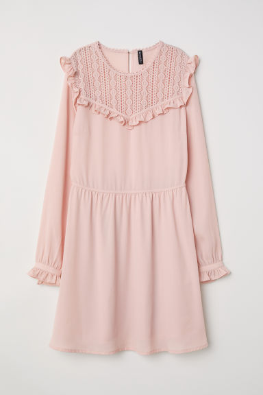 Chiffon dress - Old rose -  | H&M CN