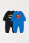 Batman negro/Superman azul