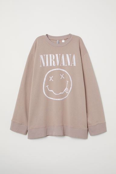 Oversized sweatshirt - Light mole/Nirvana -  | H&M CN
