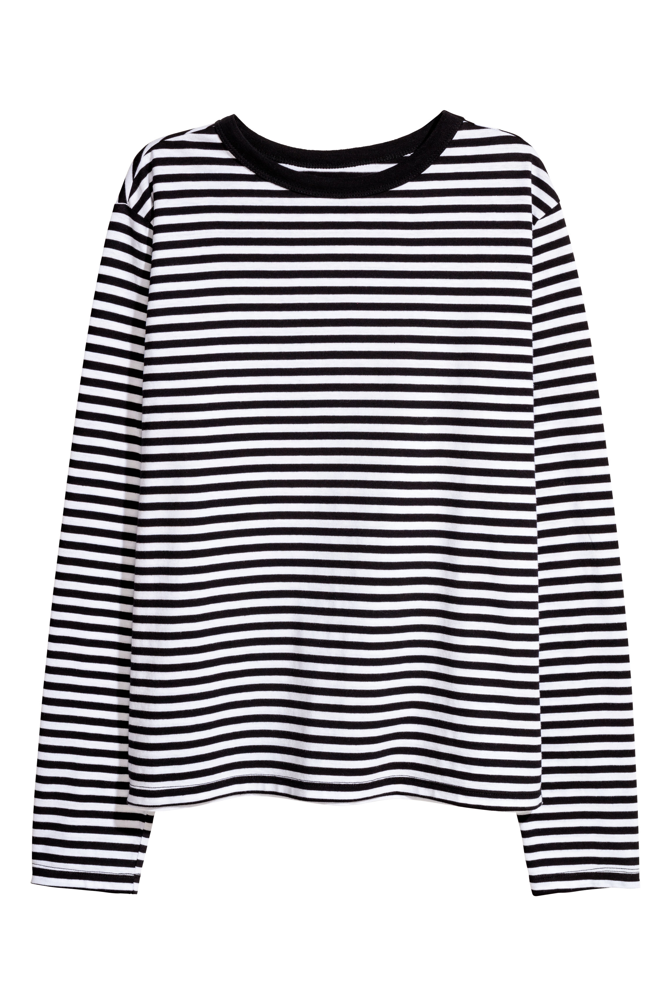 774cb01a7d7 Striped jersey top - Red White striped -