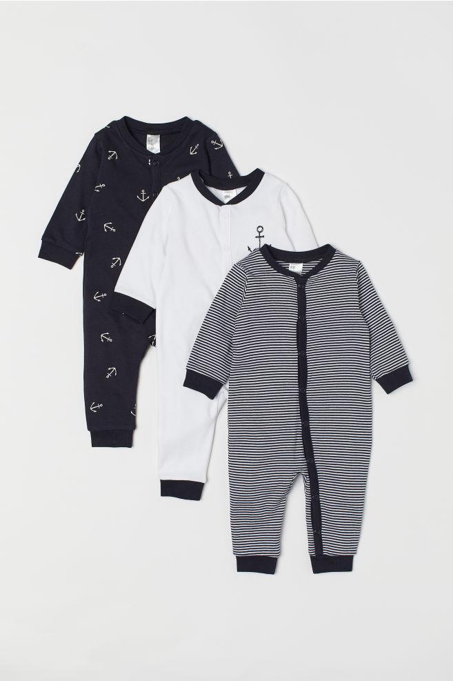 f2b6966d86 Pack 3 pijamas de algodón - Blanco Anclas -