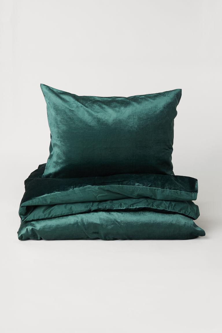 Påslakanset i sammet - Mörkgrön - Home All | H&M SE 2