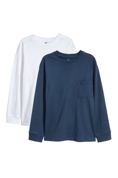 2-pack jersey tops - Dark blue - Kids | H&M