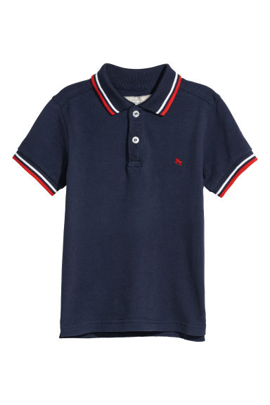 Polo shirt - Dark blue -  | H&M CN