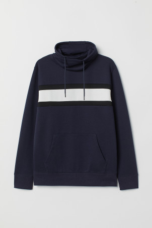 Funnel-collar sweatshirt
