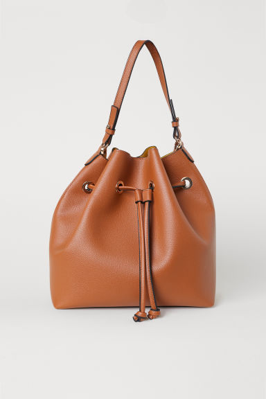 Large bucket bag - Cognac brown - Ladies | H&M