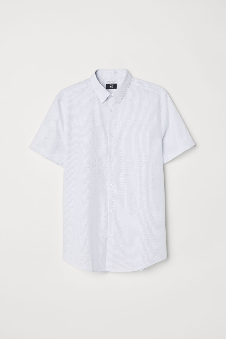 Hemd - Slim fit - Wit/stippen - HEREN | H&M BE